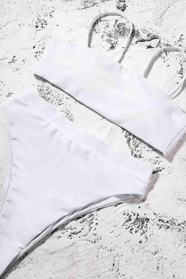 angelsin yuksek bel bikini takim beyaz bikini takm angelsin 12029 36 B