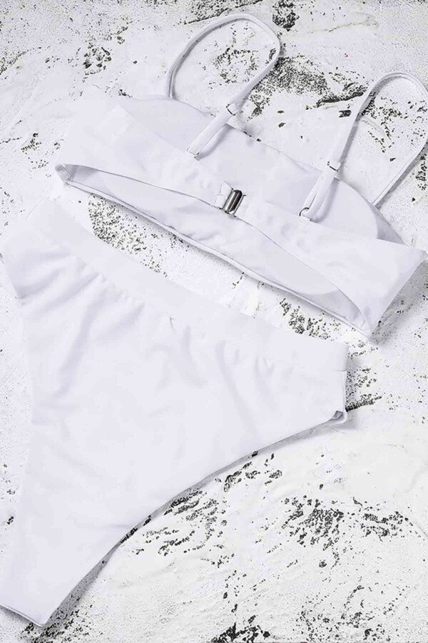 angelsin yuksek bel bikini takim beyaz bikini takm angelsin 12030 36 B