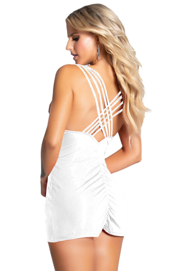 kadin biye detayli super mini elbise 316 10 B
