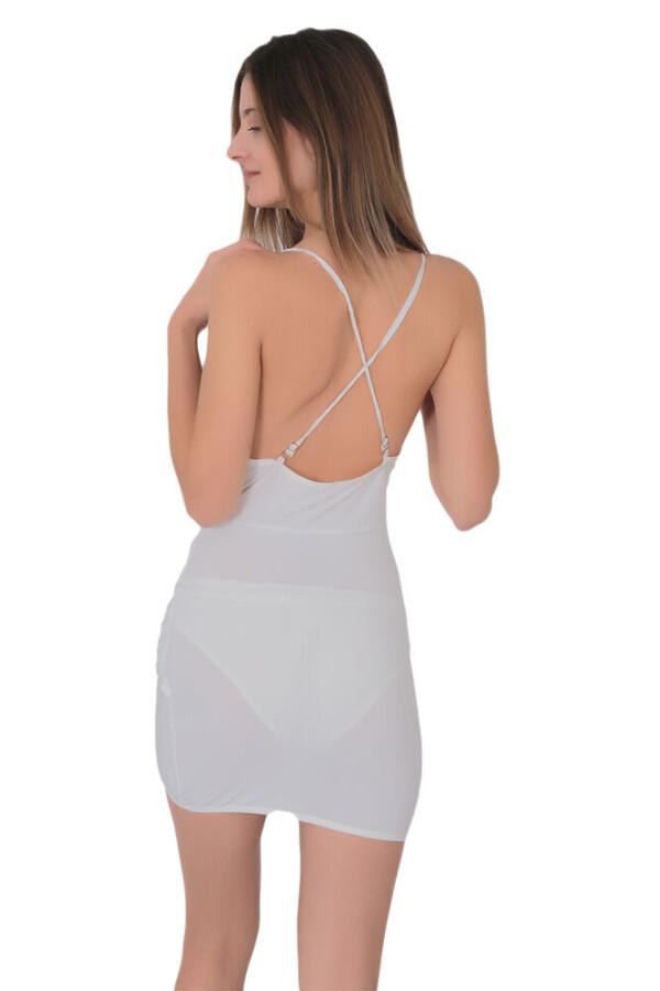 kadin derin dekolteli super mini elbise 332 10 B