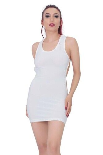 kadin bel dekolteli super mini elbise 2060 10 B